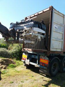Un conteneur de matériel pour Lomé