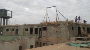 Au dessus de l'hôpital de jour : la construction de l'étage avance